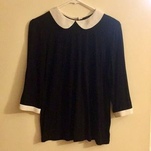 F21 Peter Pan Collar Top